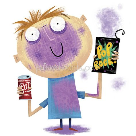Pop Rocks and Coke killed Mikey, the Life Cereal Kid... art by Michael Slack
