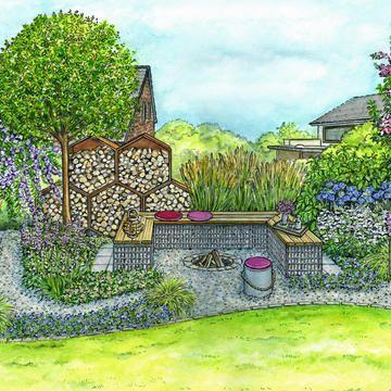 Gemutliche Feuerstelle Fur Tag Und Nacht Garten Gartengestaltung Gartenecke