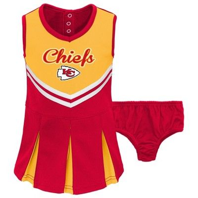 Royal NCAA Kansas Jayhawks Infant Cheer Jumper Dress with Bodysuit