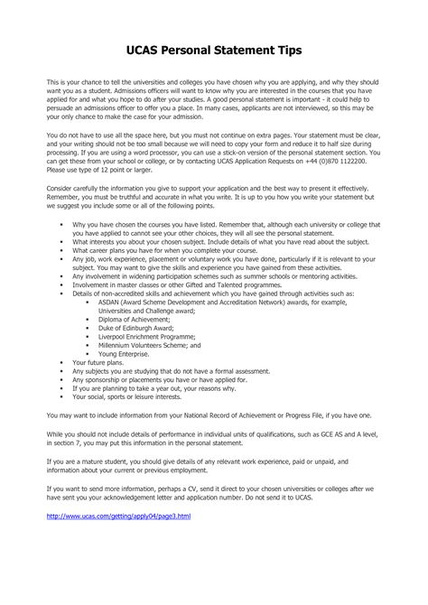 Criminology Personal Statement Examples Template Personal