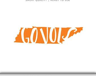 Go Vols - Tennessee State Graphic - Digital Download - SVG