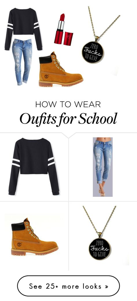 """""""Back to school for winter break"""" by chele-i on Polyvore featuring Timberland"""