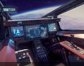 Sci Fi Fighter Cockpit 4 3d Model Sci Fi Wallpaper Spaceship