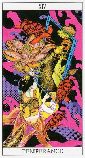 Awash with colour, this is a very vibrant Japanese Tarot. The majors of the Moonprincess Himiko Tarot are lively, detailed and beautiful, though the minors are rather boring pip cards. Visit the link to see The Moon Princess Tarot Deck on Amazon #tarotcards #tarotdecks #tarotcardsdecks #tarotart #tarotdecksart #affiliate #amazonaffiliate