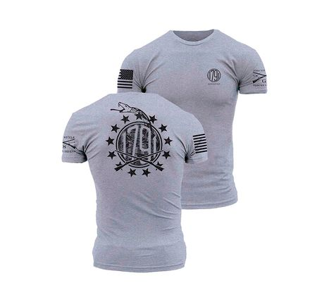 1791 Gunleather T-shirt by Grunt Style Grey
