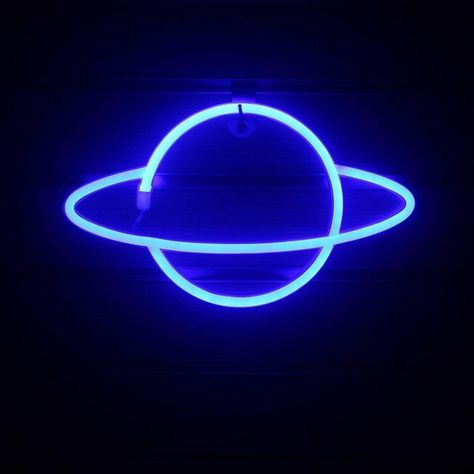 Out Of This World Planet Neon Light - Blue