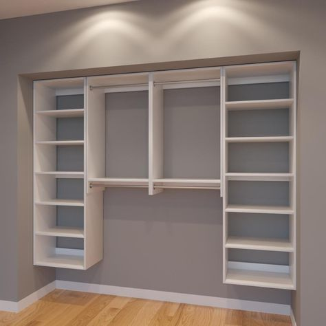 Modular Closets 8 Ft Closet Organizer System 96 Inch Style B Modular Closets Modular Closet Systems Closet Designs