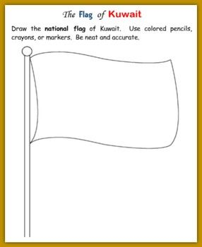 Iraq Printable Handout With Map And Flag Geography Worksheets