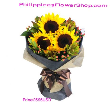Sunflowers Are A Sure Way To Brighten Anyone S Day From You Flowers Offers The Freshest Florist Flower Delivery Valentine Flower Arrangements Flowers For You