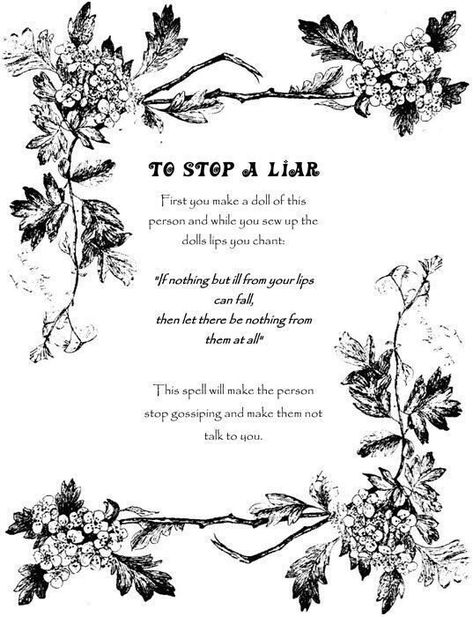 Wiccan Spells - Voodoo doll to stop a liar