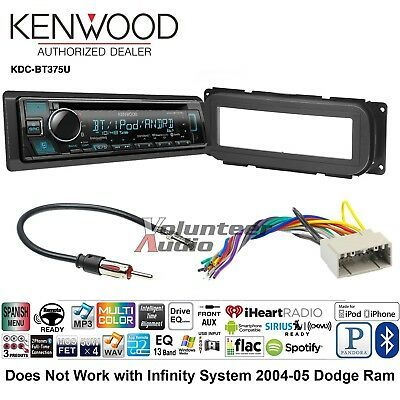 Details about Kenwood KDC-BT375U Car Stereo Radio Bluetooth