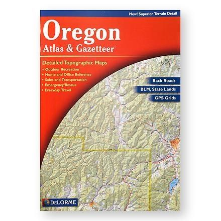 Delorme Oregon Atlas And Gazateer 4th Edition Topographic Map Travel Map Pins Maps For Kids
