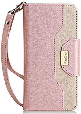 newest 2fe53 3b0bb Amazon.com: ProCase iPhone 8 Plus/7 Plus Wallet Case, Flip Fold Card ...