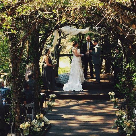 Exchanging Vows At Beautiful Hidden Creek Lake Arrowhead S Premier Outdoor Wedding Venue Pineroseweddings Rusticwedding Socalmountainwedding