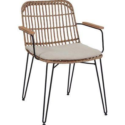 Tavoli Da Giardino In Legno Obi.Sedia Da Pranzo In Acciaio Wicker E Legno Nel 2020 Sedie Da