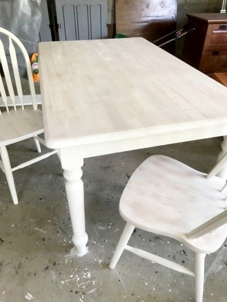 White Washed Maple Table Entri Ways Maple Tables Refurbished
