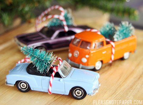 Quick and Easy DIY Christmas Car Ornaments