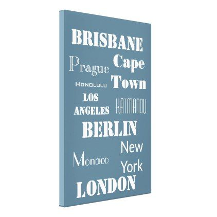 A fun personalized travel in teal canvas print fun gifts funny diy customize personal