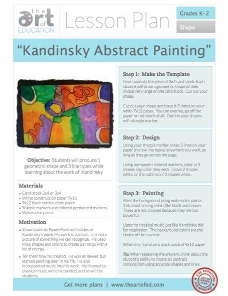 K-2 Lessons - The Art of Education University