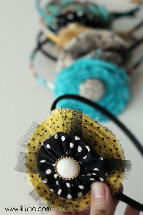 Fabric Flower Headband Tutorial