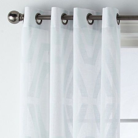 Jcpenney Home Bayview Clip Grommet Top Sheer Curtain Panel Sheer