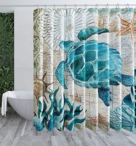 Vistale Shower Curtain Bathroom Sea Turtle Shower Curtains Cloth