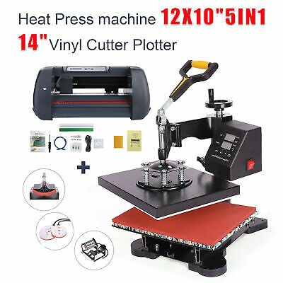 Ebay Sponsored 5in1 Heat Press Machine 12 X10 Vinyl Cutter Plotter 14 Usb Port Sticker Print In 2020 Heat Press Machine Press Machine Vinyl Cutter