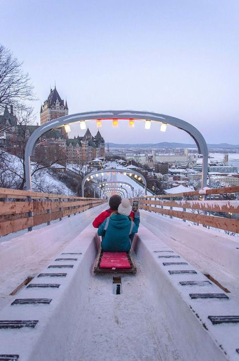 The 10 Best Things to Do in Quebec City in Winter Au 1884 toboggan Oh The Places You'll Go, Places To Travel, Places To Visit, Alberta Canada, Dream Vacations, Vacation Spots, Quebec City Christmas, Christmas In Canada, Canada Lifestyle