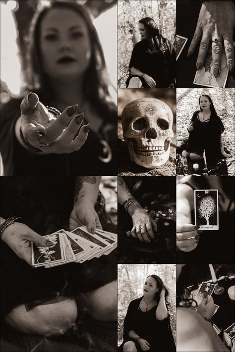 Witchy photoshoot #witch #holloween #photoshoot #tarotcards #tarot #reading #skulls #magic #spells #theempress #holloween2018 #photography #portraiture #50mm #f-3.2 #nikon #d5000 #holloweeninspo #aesthetic #bidwellphotography #spooky #blackandwhite #bw #nampa #idaho #lake #lowell