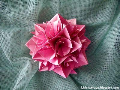 Piekna Dekoracyjna Zakrecona Kula Kusudama Kula Origami Kusudama Ball Swieta Bozenarodzenie Christmas Christm Origami Techniques Origami Diy Art