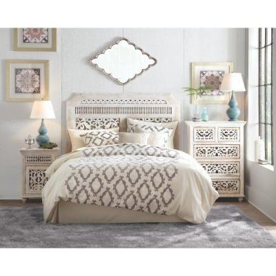 Home Decorators Collection Maharaja Wood King Headboard in Sandblast White-1472410820 - The Home Depot