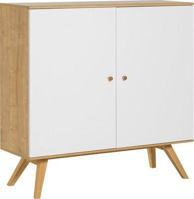 Sideboard Weiß Holzbeine