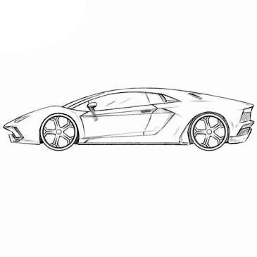 Today We Bring To Your Attention The Coloring Of Lamborghini Aventador Open This Page And Start Coloring T Car Drawings Lamborghini Aventador Car Drawing Easy