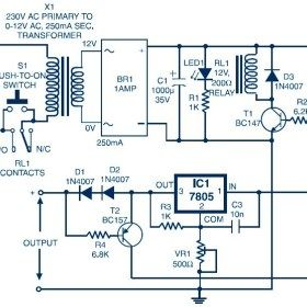 Auto Switch Off Power Supply Variable Output 3 7v To 8 7v Circuit Diagram Power Supply Circuit Power Supply