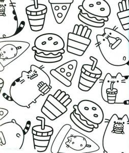 Get These Pusheen Coloring Pages And Have Fun With It Free Coloring Sheets Pusheen Coloring Pages Unicorn Coloring Pages Birthday Coloring Pages