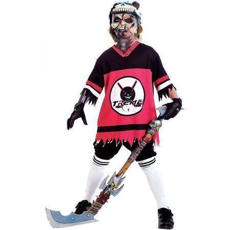 College Football Zombie Hockey Player Zombie Hockey Player Hockey Player Boyfrie In 2020 Hockey Player Costume Hockey Players Girlfriend Halloween Hockey Player