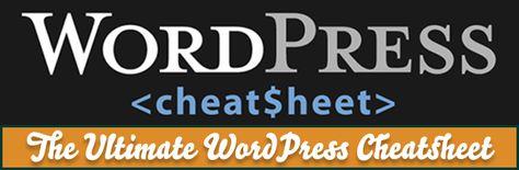 26+ Useful WordPress Cheat Sheets & Resources