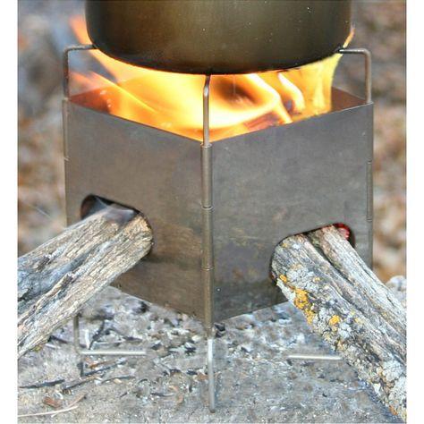 """3"""" Folding Firebox Nano Ultralight Backpacking Stove"""