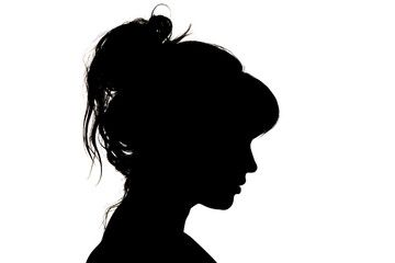 Young Woman Head Silhouette Vector Image On Vectorstock Silhouette Vector Silhouette Human Silhouette