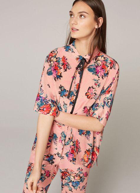 Camisa seda floral - Ver todo - Última semana - Uterqüe España