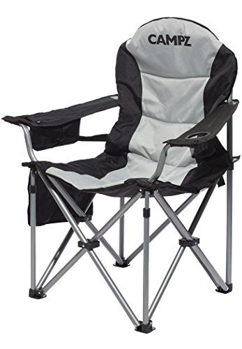Campz Deluxe Arm Chair Black 2020 Camp Stool Camping Chairs