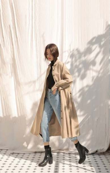 Trendy korean fashion fall coat ideas #fashion