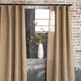 Byron Jute Burlap Curtain Panel Burlap Curtains Rustic Curtains