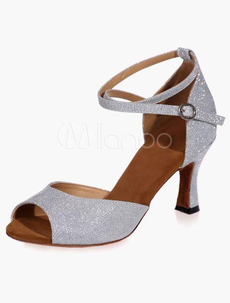 VASHCAME-Chaussures de Danse Latine Talons Hauts Sandales pour Femme