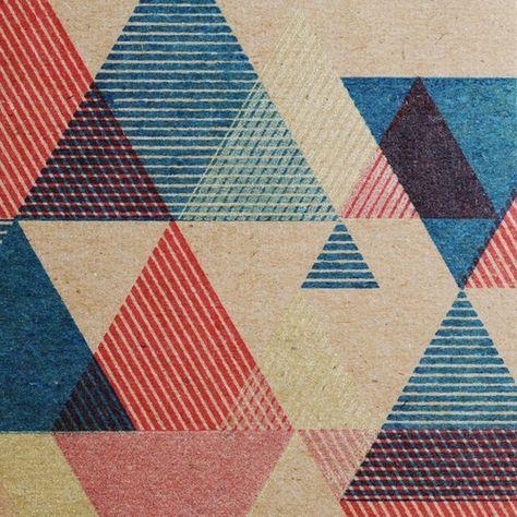 Hand-printed Triangular Pattern card by desTroy on Etsy
