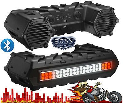 Ad Ebay Link Atvb95led Boss Bluetooth 700 Watt Amplified Atv Sound System With Led Light Bar In 2020 Bar Lighting Sound System Atv