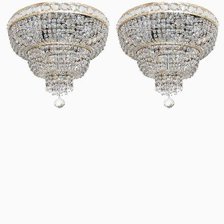 Captivating Verchromte Italienische Kristall Kronleuchter, 1960er, 2er Set Jetzt  Bestellen Unter: Https://moebel.ladendirekt.de/lampen/deckenleuchten/ Kronleuchter/?uidu003d ... Great Ideas