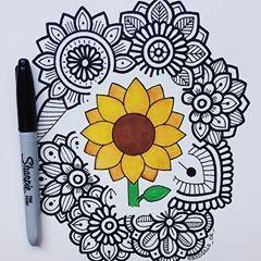 Girassol Dibujos Zentangle Art Dibujos Dibujos Simples Tumblr