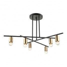Lampa Wiszaca Normani 6 X 40 W E27 Czarna Black Pendant Lamp Pendant Lamp Ceiling Lights