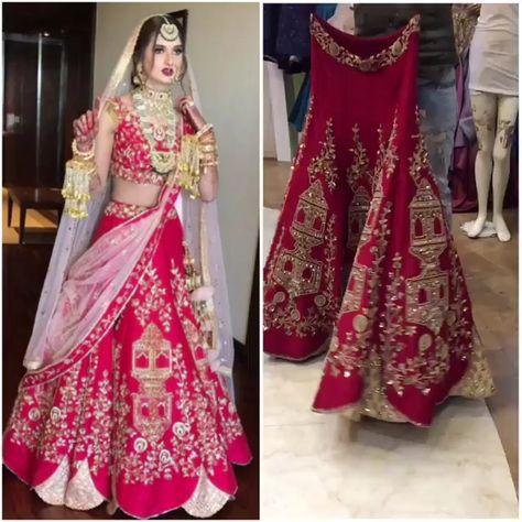 Red Wedding Bridal Lehenga